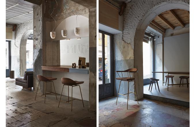 BassamFellows, spindle stool, cb-28, modern barstool, counter stool, solid wood, craig bassam, scott fellows