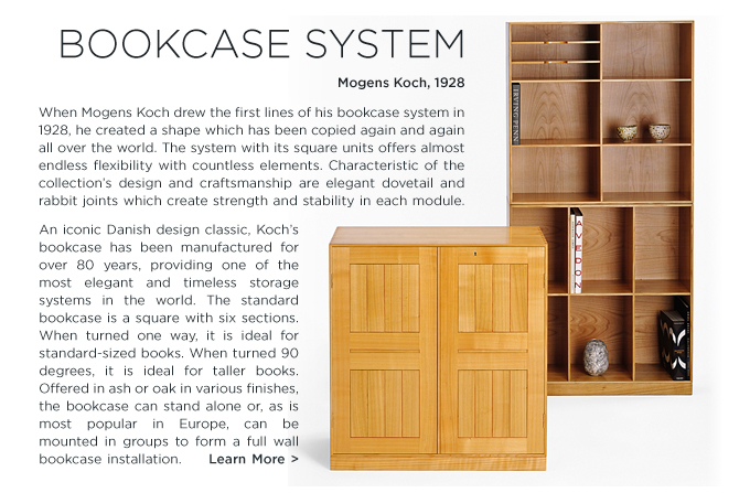 Mogens Koch Bookcase system, rud rasmussen SUITE NY midcentury modern, danish shelving system