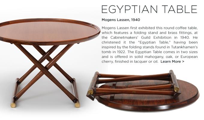Mogens Lassen, Egyptian Table, Rud Rasmussen, midcentury modern, danish coffee table