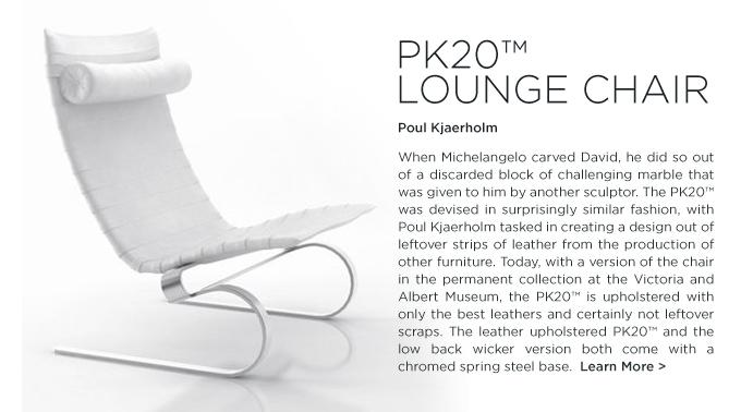 PK20, Poul Kjaerholm, lounge chair, white leather, fritz hansen