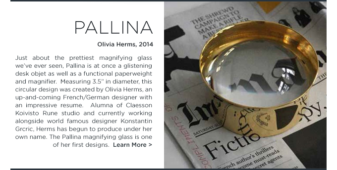 Pallina magnifying glass, skultuna, Olivia Herms, when objects work, modern, hostess, gift