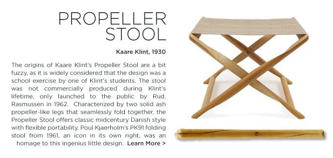 Rud Rasmussen, Propeller Stool, Kaare Klint, danish design, folding stool