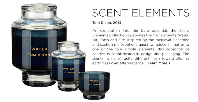 Scent elements, tom dixon, blue candle water, modern, hostess, gift