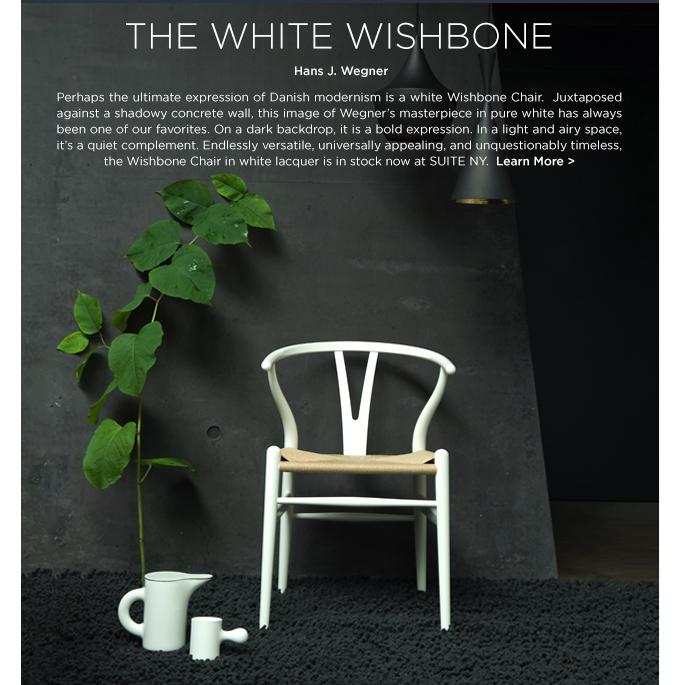 White wishbone chair, arne jacobsen, carl hansen, danish modern, white lacquer wishbone, ch24 chair, ch-24 wishbone