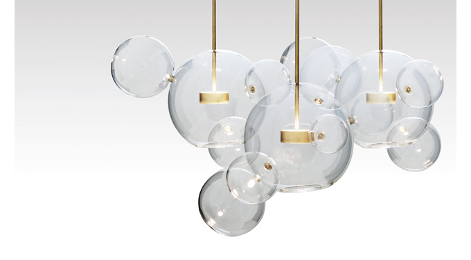GIOPATO COOMBES, giopato coombes bolle, Bolle chandelier, softspot pendant, LED chandelier, italian lighting