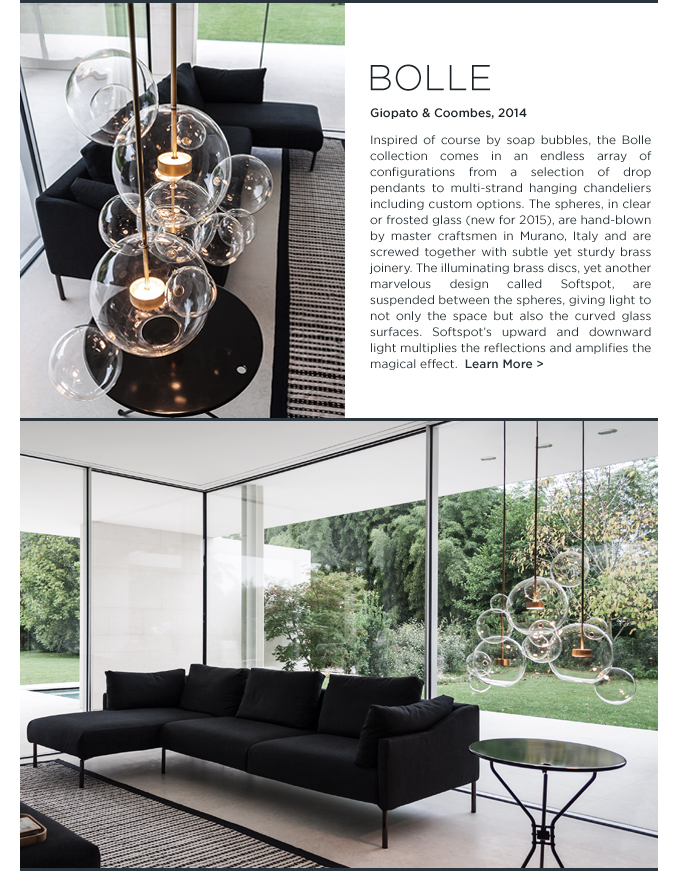 GIOPATO COOMBES, giopato coombes bolle, Bolle chandelier, LED chandelier, softspot pendant, italian lighting