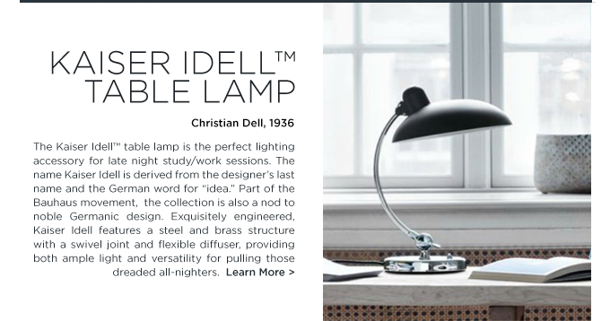 Kaiser idell table lamp, fritz hansen, christian dell, white, danish furniture