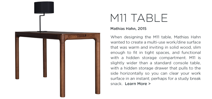 M11 Table, Mathias Hahn, Zeitraum, desk, work surface