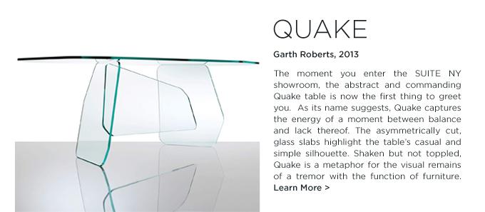 Quake table, Glas Italia, garth roberts, modern glass design, table desk