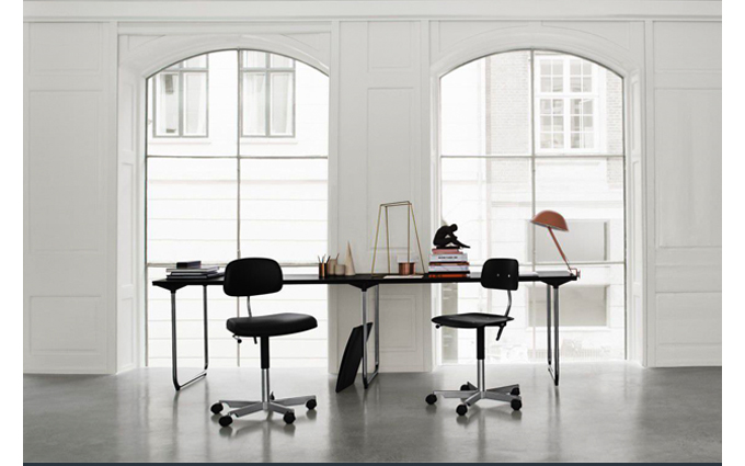 SUITE NY, Kevi Chair, Engelbrechts, modern task chair, black upholstery, danish design