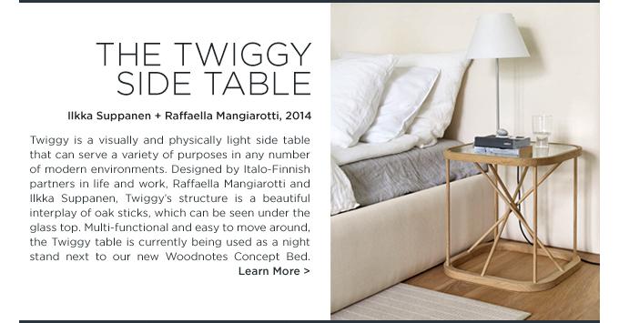 Twiggy side table, Woodnotes, Ilkka Suppanen Raffaella Mangiarotti, wood, oak twigs, side table