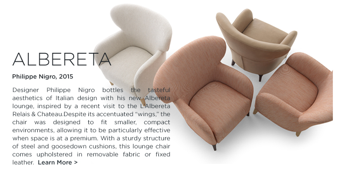 Albereta, Armchair, DePadova, Philippe Nigro, low compact wing chair
