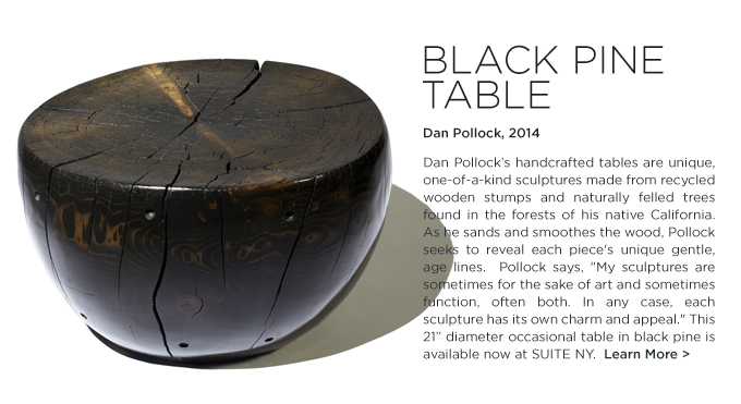 Black Pine table Dan Pollock organic design suiteny modern ecofriendly coffee table