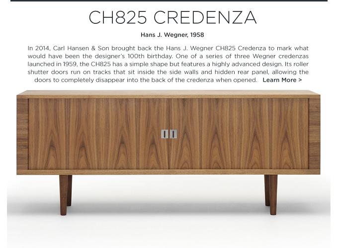 CH825 Credenza Hans Wegner Carl Hansen midcentury modern wood console buffet table
