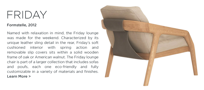 Friday armchair, Formstelle, Zeitraum, upholstered modern lounge seating