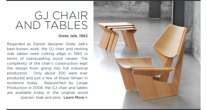 GJ Chair Grete Jalk Lange Production oregon pine modern plywood chair