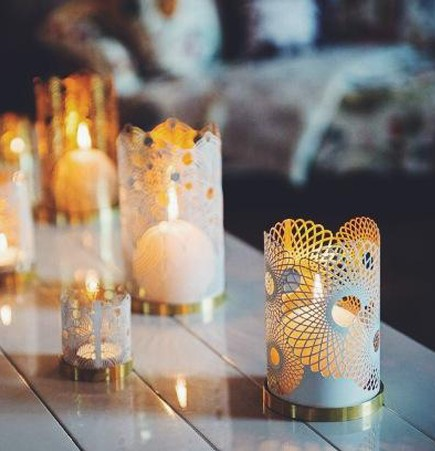 London Collection Lara Bohinc Skultuna laser cut filagree votive tea light holders outdoor dining blog
