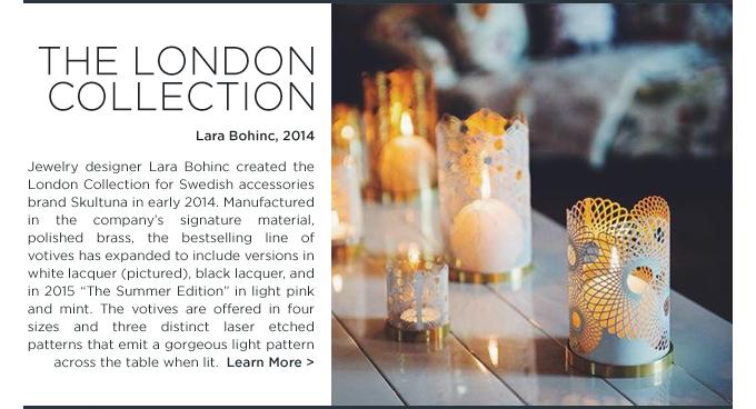 London Collection Lara Bohinc Skultuna laser cut filagree votive tea light holders outdoor dining