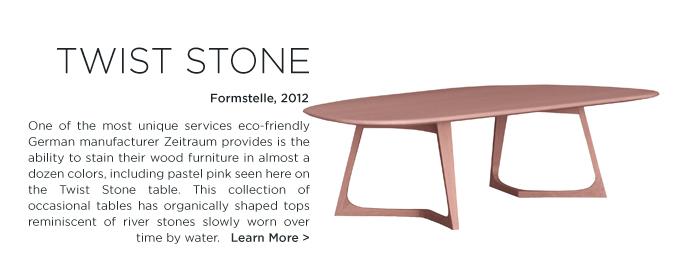 Twist Stone Zeitraum pink wood stain modern furniture blush
