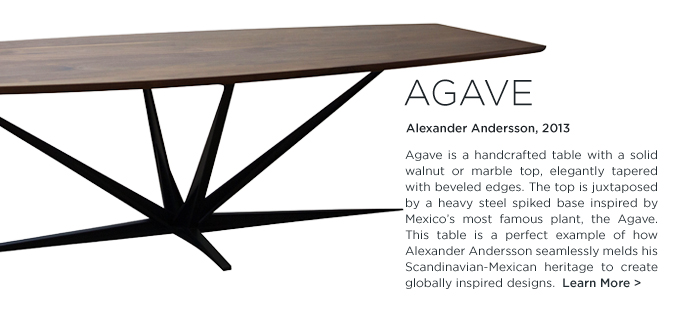 Agave table Alexander Andersson Luteca spike metal base mexican design