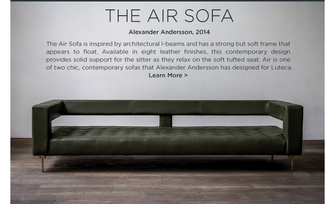 Air Sofa Luteca Alexander Andersson Modern Mexican Furniture Olive Green Leather Tufted