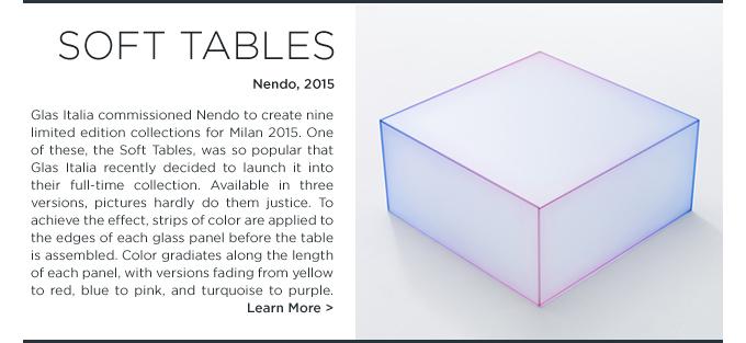 Nendo Soft Tables Glas Italia colorful glass boxes 1