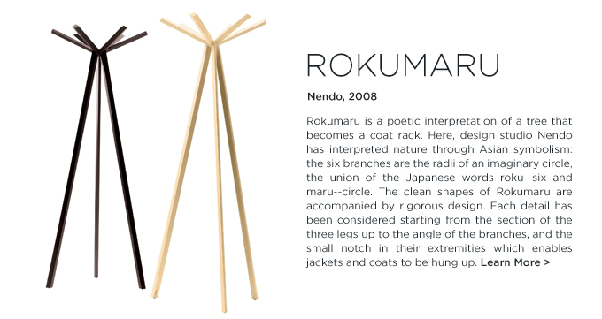 Rokumaru coat rack nendo depadova modern coat tree