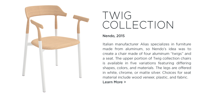 Twig Collection Nendo chair Alias design modern wood aluminum chair italy