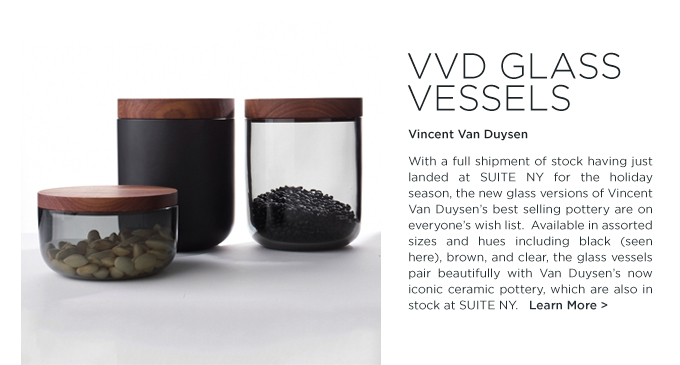 VVD glass pottery vincent van duysen when objects work black smoked glass pots