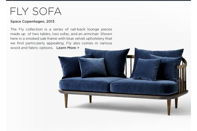 fly sofa, space copenhagen, andtradition, blue velvet, upholstered lounge seating, danish design, contemporary