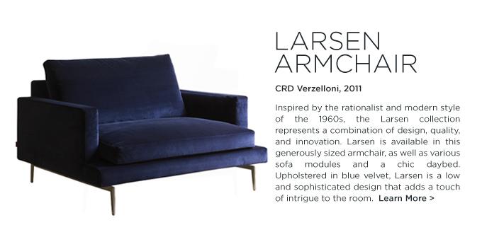 larsen armchair, crd verzelloni, blue velvet, solid wood, furniture, italian design, contemporary