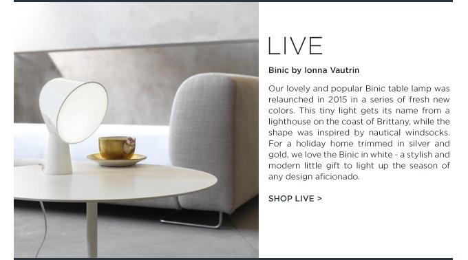 Binic table lamp foscarini white Ionna Vautrin tiny modern light suiteny