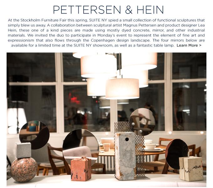 From Copenhagen with Love SUITE NY Pettersen and Hein Magnus Pettersen Lea Hein danish art sculpture contemporary table mirrors