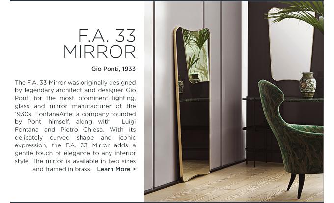 Gubi Gio Ponti Mirror FA 33 brass floor wall mirrors