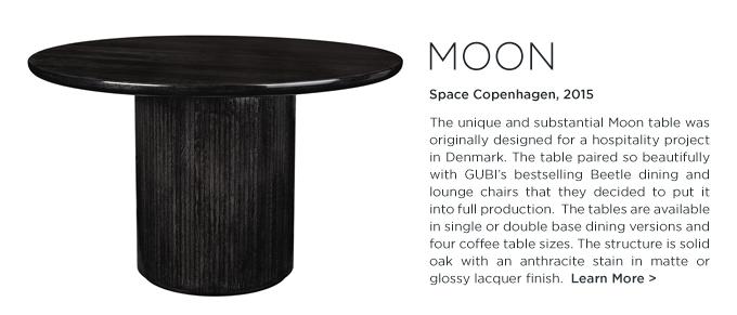 Moon dining table Space Copenhagen GUBI black round oak