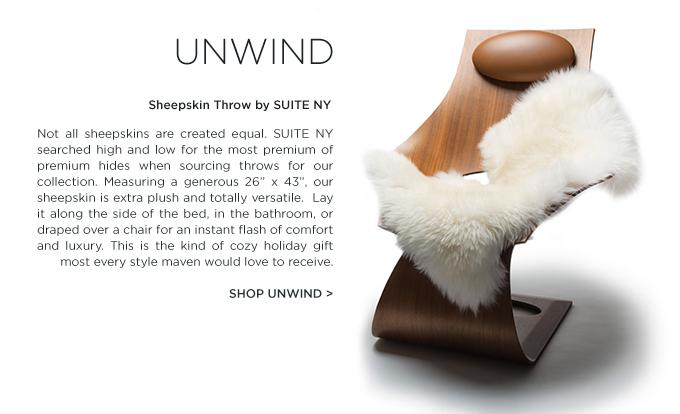 Sheepskin Throw SUITE NY premium white new zealand hide luxury fur