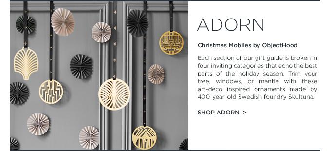 Skultuna christmas mobiles objecthood art deco holiday ornaments brass suiteny