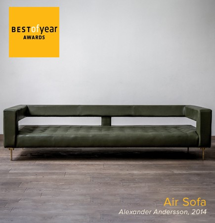 Air sofa, alexander andersson, luteca, best of year awards, interior design magazine, residential sofa, mexican design, swedish design, luxury designer furniture, suite new york, suite ny