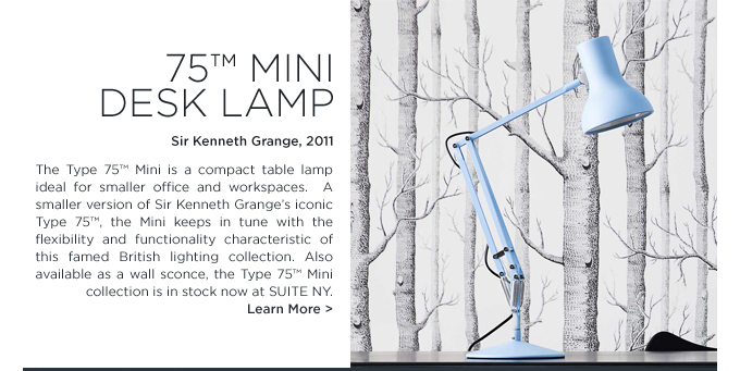 Baby Blue type 75 mini anglepoise task table lamp kenneth grange suite ny