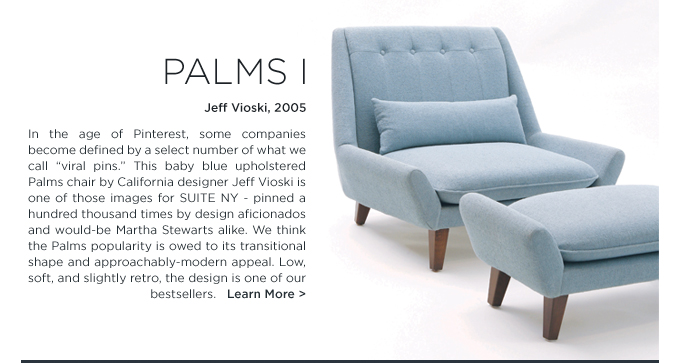 Baby blue palms 1 lounge chair jeff vioski furniture suite ny