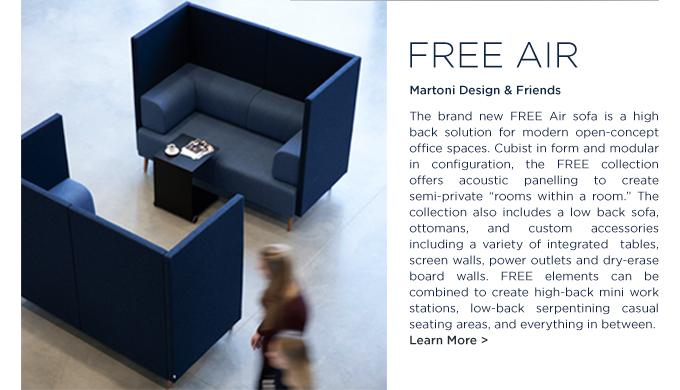 Free Air Sofa Martoni Design Holmris SUITE NY acoustic high back commercial sofa