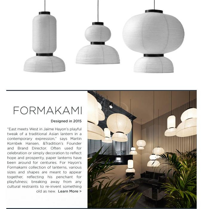 Jaime Hayon Formakami lanterns &Tradition Andtradition modern paper lantern hanging lights