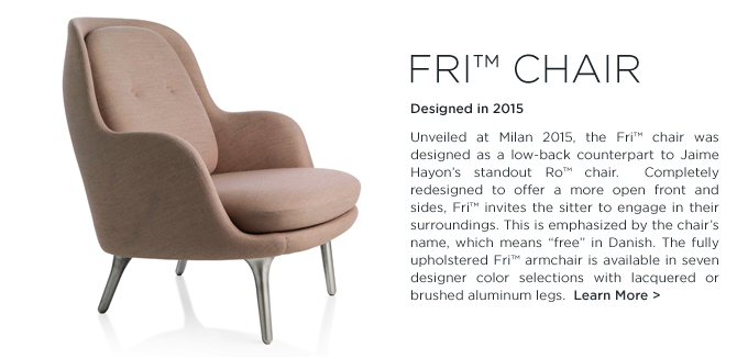 Jaime Hayon Fri chair Fritz Hansen suiteny pink upholstered armchair
