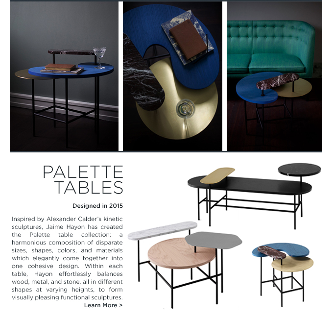 Jaime Hayon Palette table Andtradition &Tradition coffee table organic shapes marble brass wood