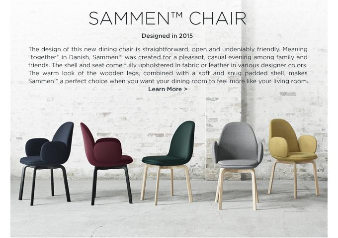 Jaime Hayon Sammen Chair Fritz Hansen upholstered dining chair burgundy navy gray yellow