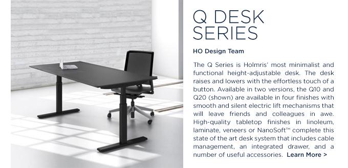 Q Series Desk Holmris Q20 height adjustable desk SUITE NY