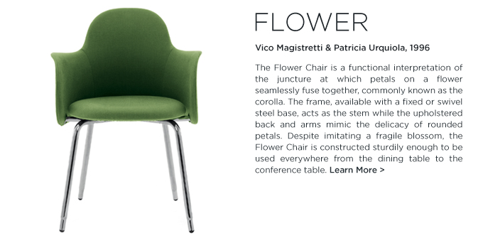 Flora and Fauna Flower Chair Vico magistretti Patricia Urquiola Depadova De Padova Suite ny