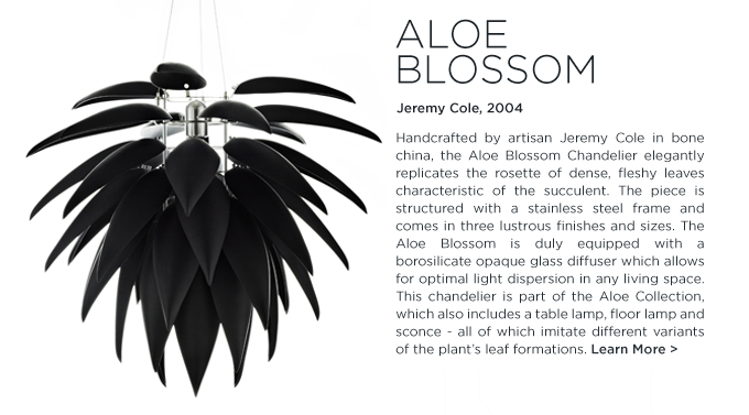Flora and Fauna aloe blossom bud shoot chandelier table lamp floor lamp jeremy cole suite ny