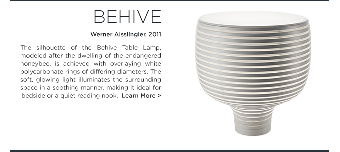 Flora and Fauna behive table lamp foscarini beehive wener aislingler lighting white suite ny