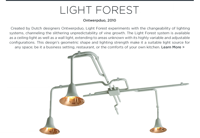 Flora and Fauna light forest Ontwerpduo wall ceiling  light lighting andtradition and tradition suite ny